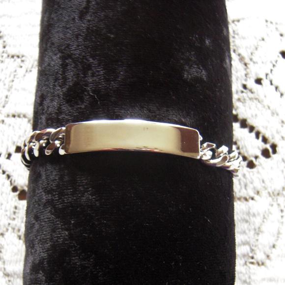 Avon Other - Mens  ID bracelet Silver Tone Sz Large by Avon
